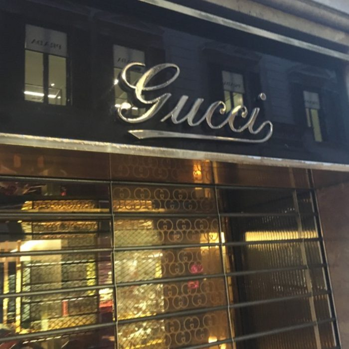 Gucci logo in Gold - Letters in Italy