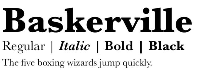 Baskerville Modern Serif Series