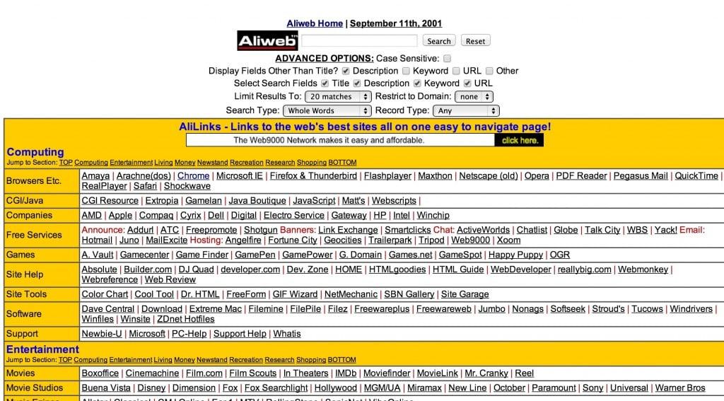 Ali web, worst websites