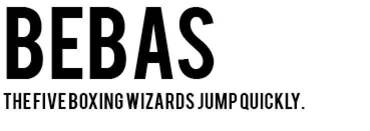 Typography - Free Fonts - Web Design - Sans Serif Fonts - Bebas