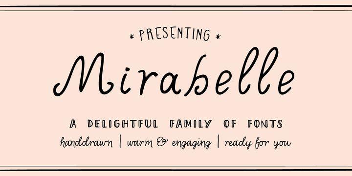 Hand lettered fonts - mirabelle