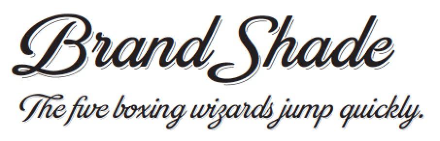 Brand Shade Pro - Trendy Stylish Script Fonts 2015