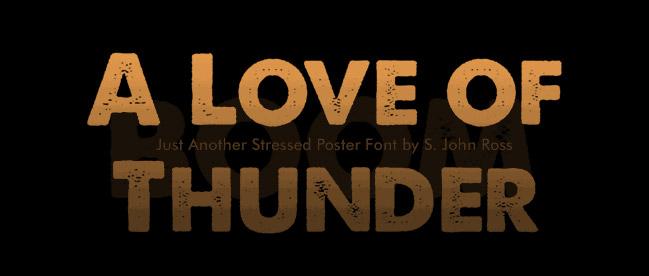 Textured font,  Thick Slab sans-serif font -free download
