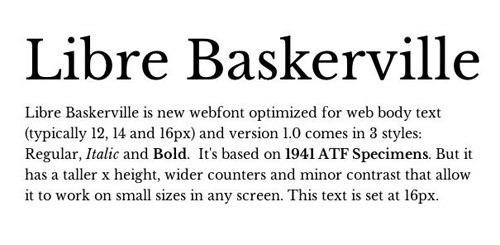 Libre Baskerville - Free Font download