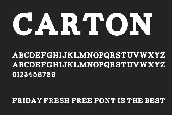 Carton font - Free Download