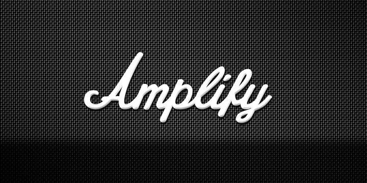 Amplify font - Marshall Rock band - logo font