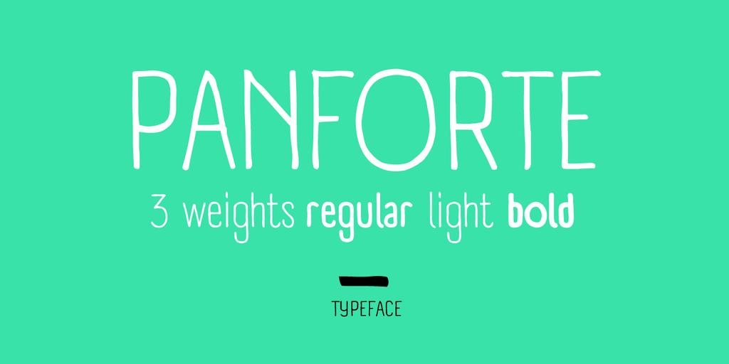 Panforte free font download