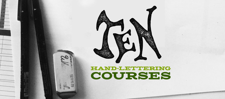 Ten Hand-lettering Courses