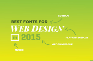 Best Fonts for Web Design in 2015