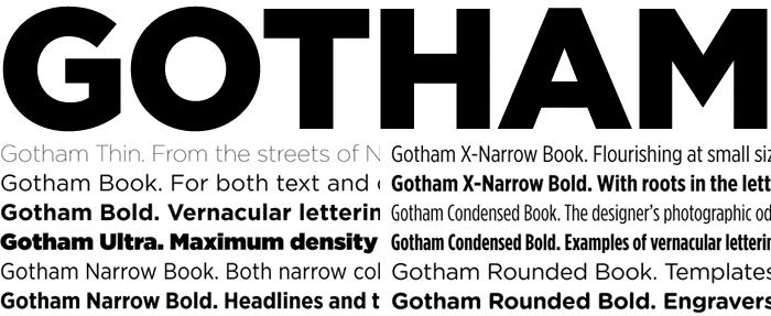 Gotham, best fonts for web design 2015
