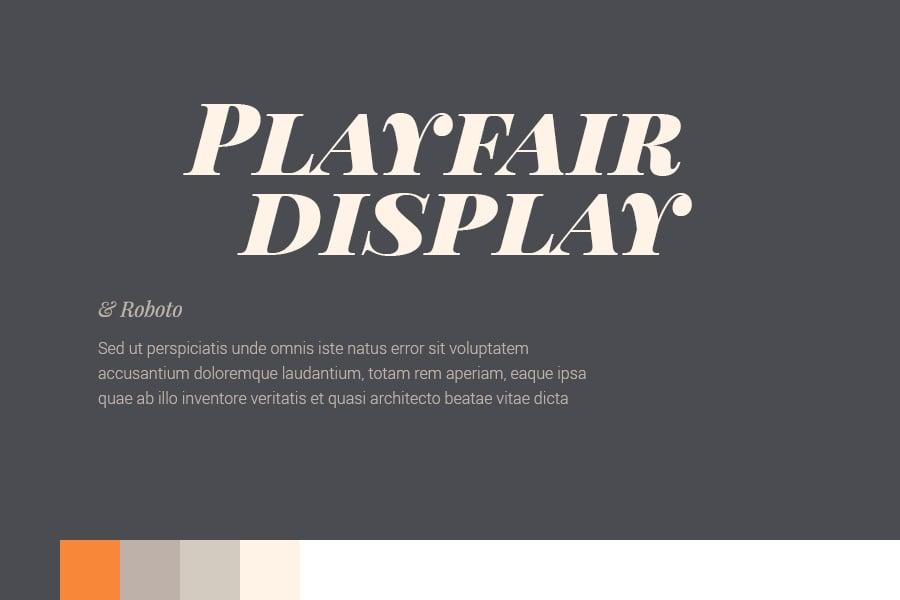 Playfair Display, Best fonts for Web Design 2015