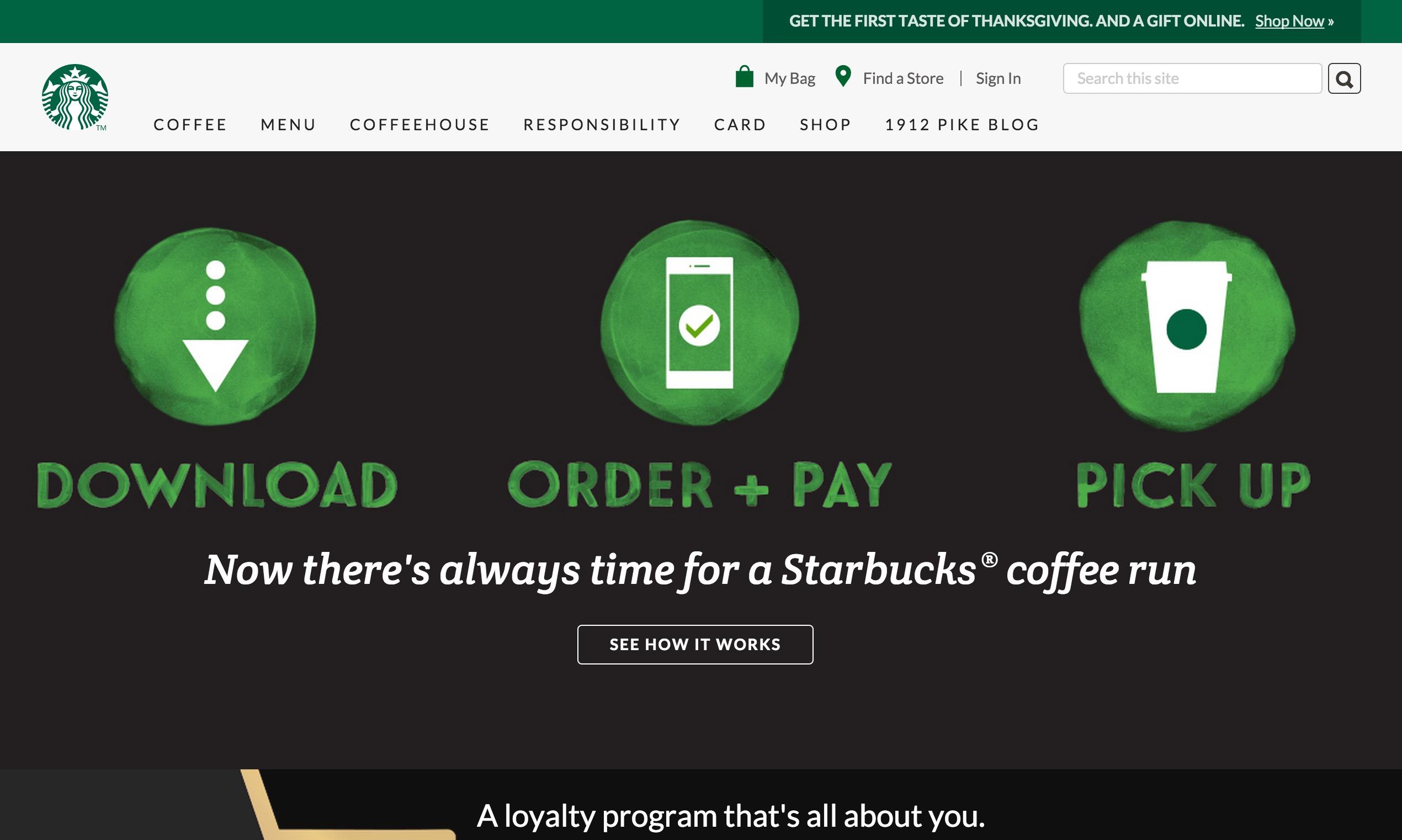 Starbucks - Good Website Examples