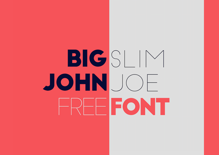 Big John - Slim Joe - Free - modern fonts 2015 - the best top font of the year
