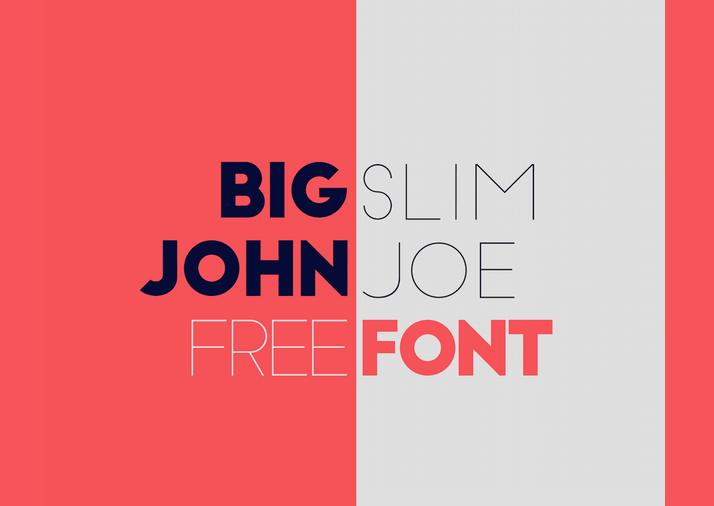 Big John - Slim Joe - Free - modern fonts 2015 - the best top font of the year