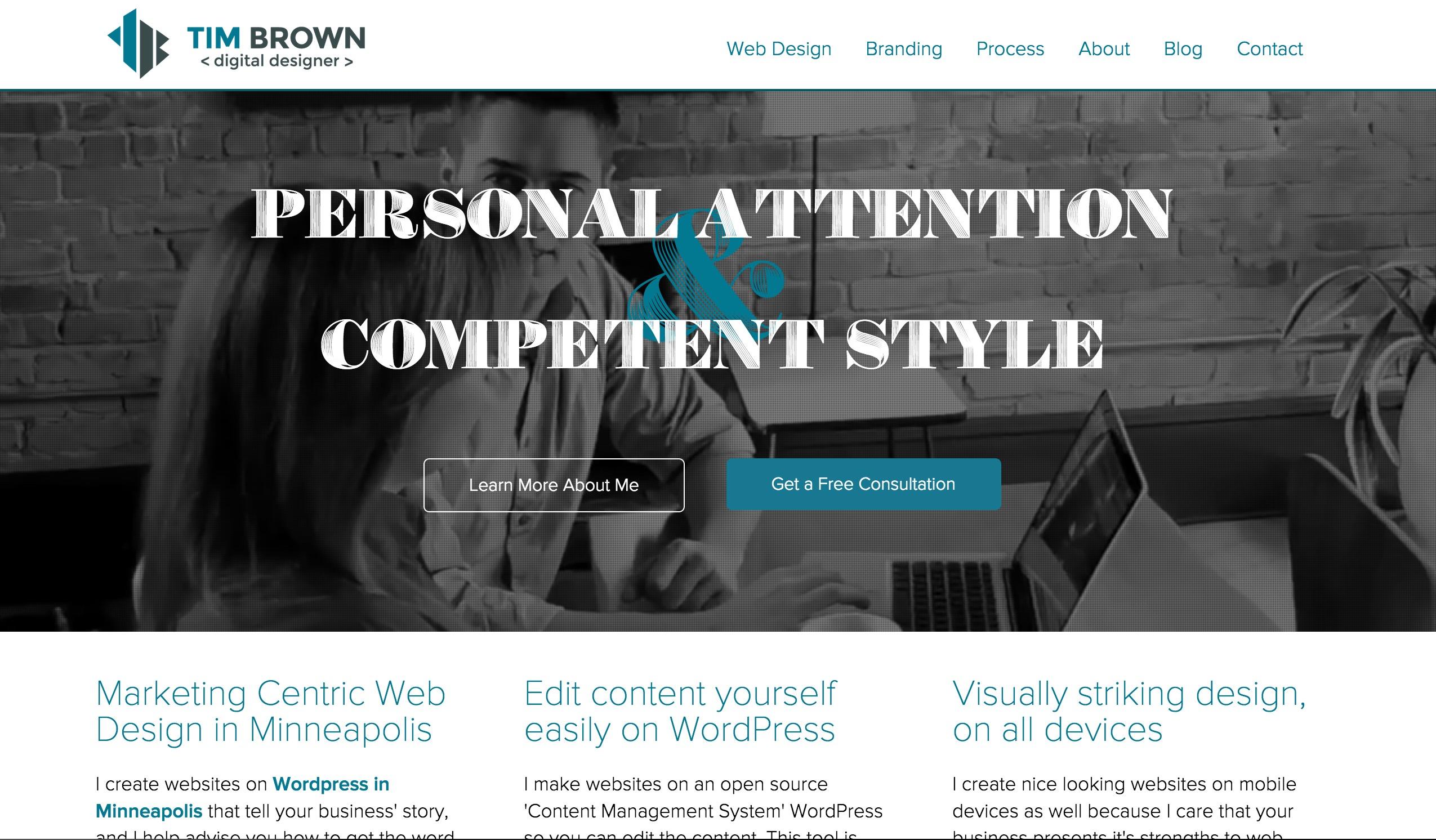 Portfolio Redesign - 2015 - Web Design Portfolio