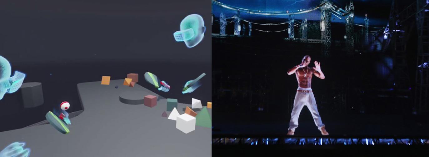 Tupac, Zuckerberg, Digital 3D Reality