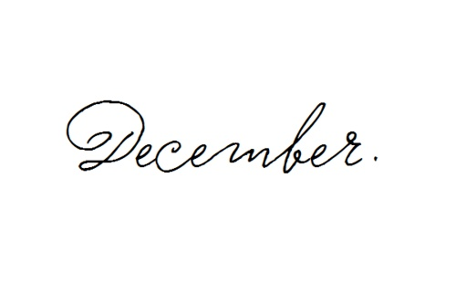 December Hand-lettering thin lines, Examples of Hand-lettering to inspire