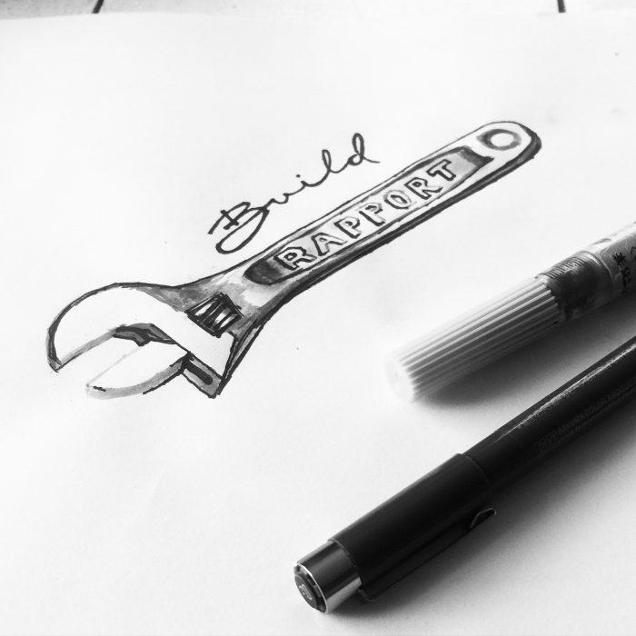 Build Rapport - design hand-lettering