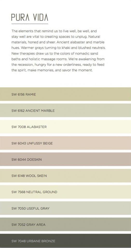 Pura Vida - Ultimate Color Guide 2016, designers and web designers 2016