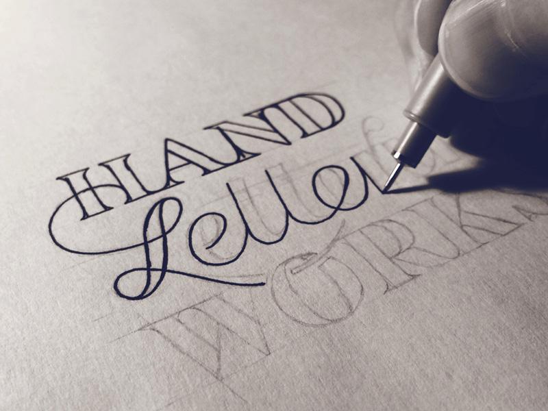 Hand Lettering Workshop - Process Shot