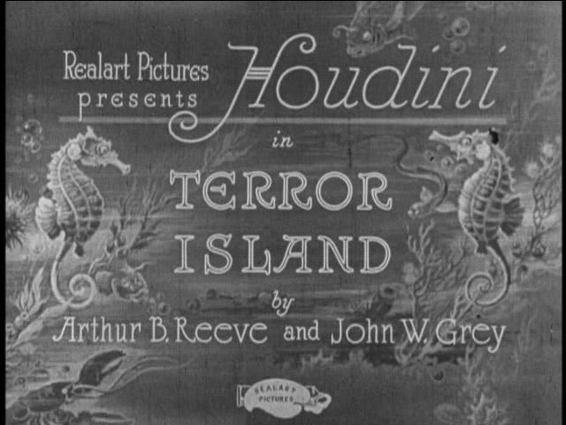 Houdini in Terror Island - Handlettering in Movie Titles
