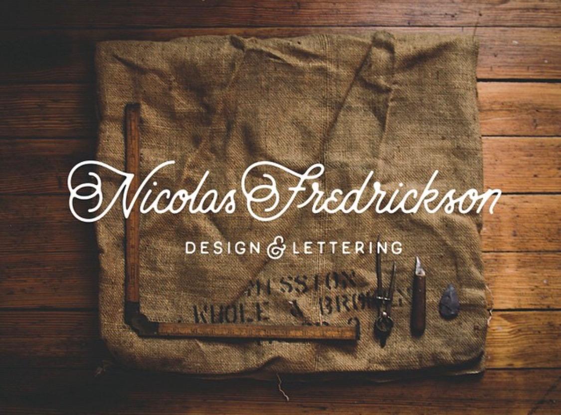 Nicolas Fredrickson - Design and lettering thin lettering example
