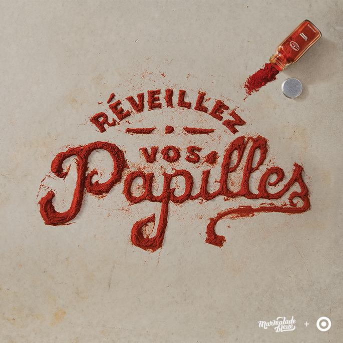 Food Lettering - Pepper design