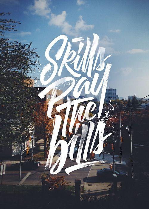 Skills to pay the bills script font