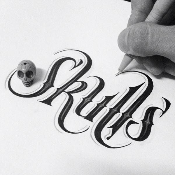 Skulls - hand-lettering design