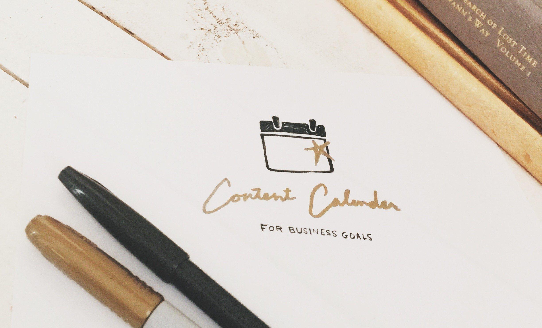Content Calendar for business goals