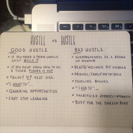 Good Hustle vs. Bad Hustle
