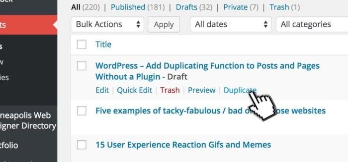 WordPress Post Duplication - Clone Without Plugin