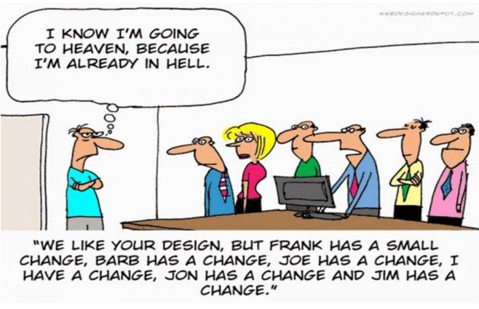 Change order, changes for web design