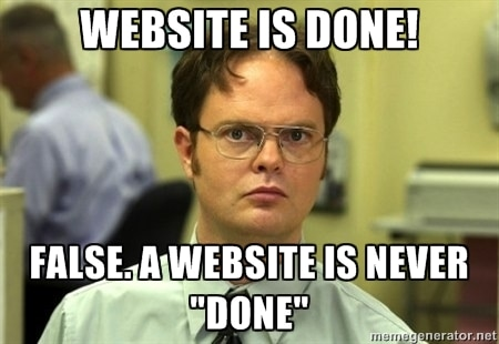 Website is done