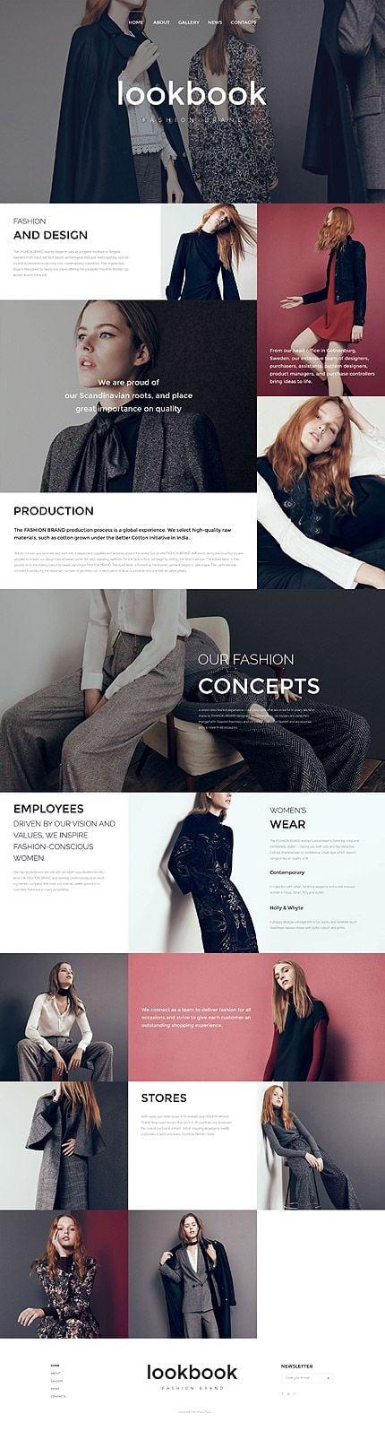 Fashionable Dark Sleek modern color palette for web design