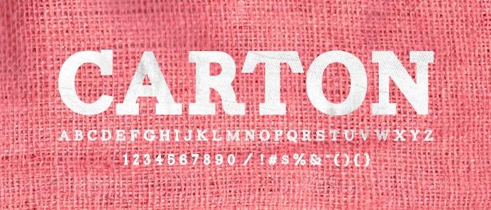 Carton Font - Hipster Fonts