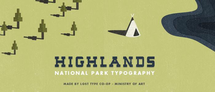 Highlands - Best Free Hipster Fonts