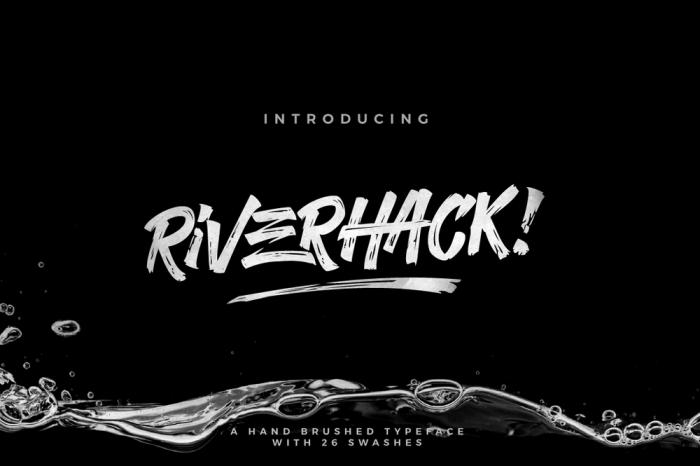 Riverhack - Hipster Fonts
