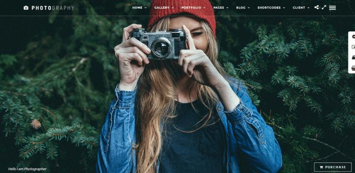 Photographers theme for wordpress