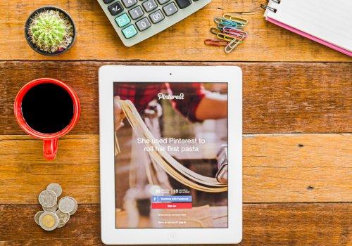 Management of the Pinterest for social media marketing
