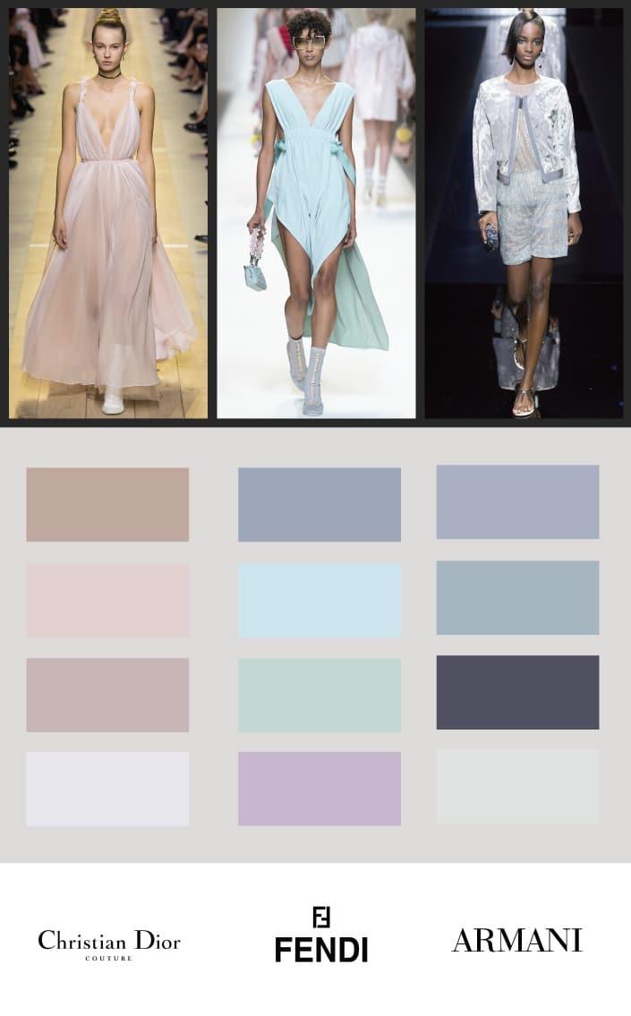 Muted tones- creams, pastels, color schemes 2017