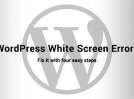 WordPress White Screen Error
