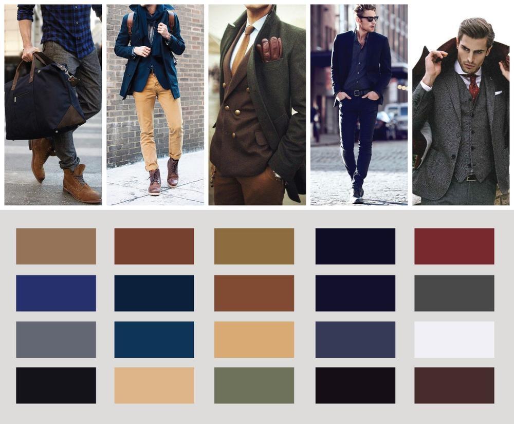 Dark, Blues, Greens, Reds, Blacks and Tans