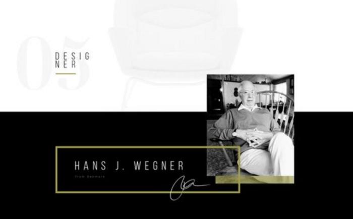 Hans Wegner - Minimal Web Design