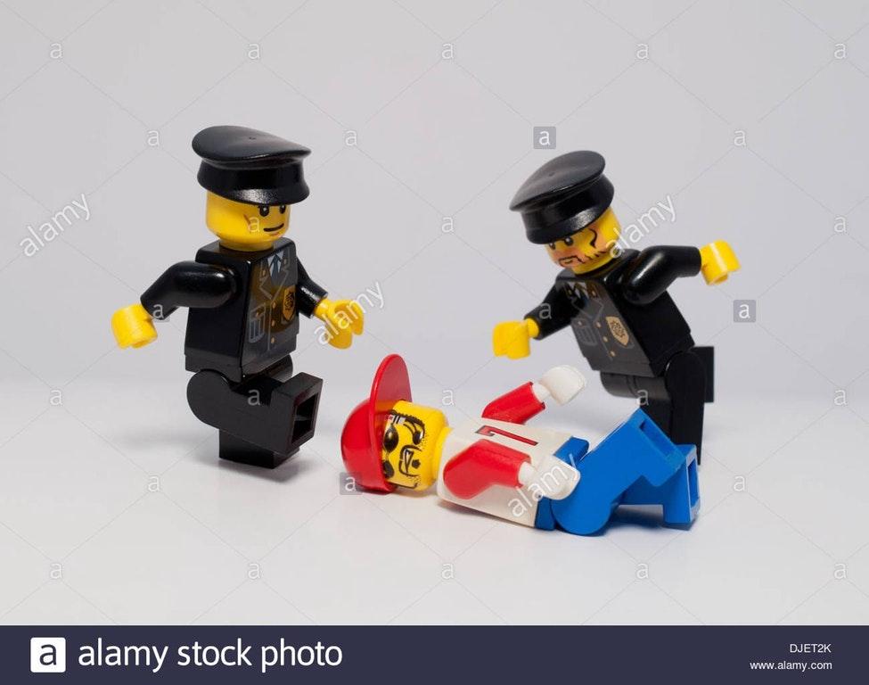 Police Brutality stock photos - legos with criminal - wierd stock photos