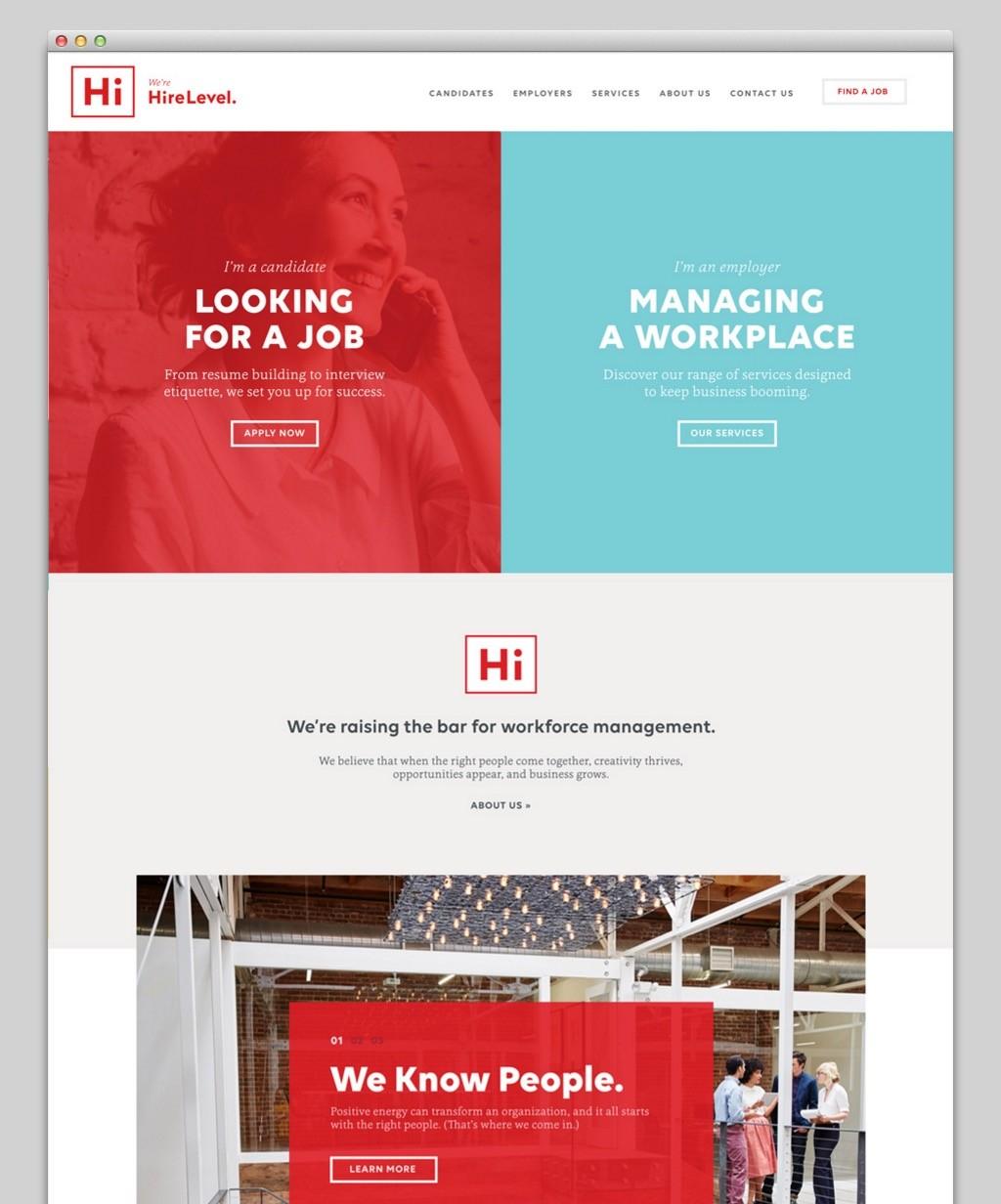 Split dichotomies - 2017 web design trend style