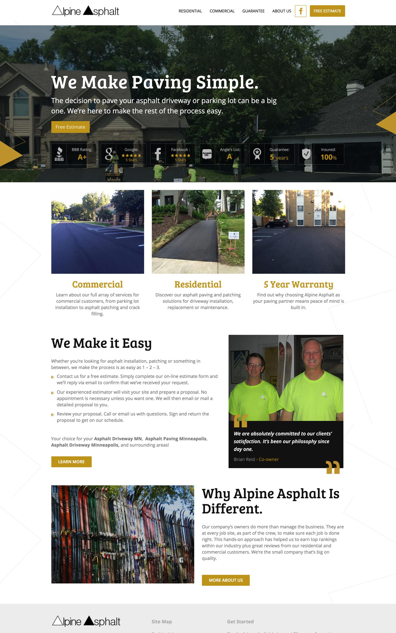 Asphalt Company Web Design