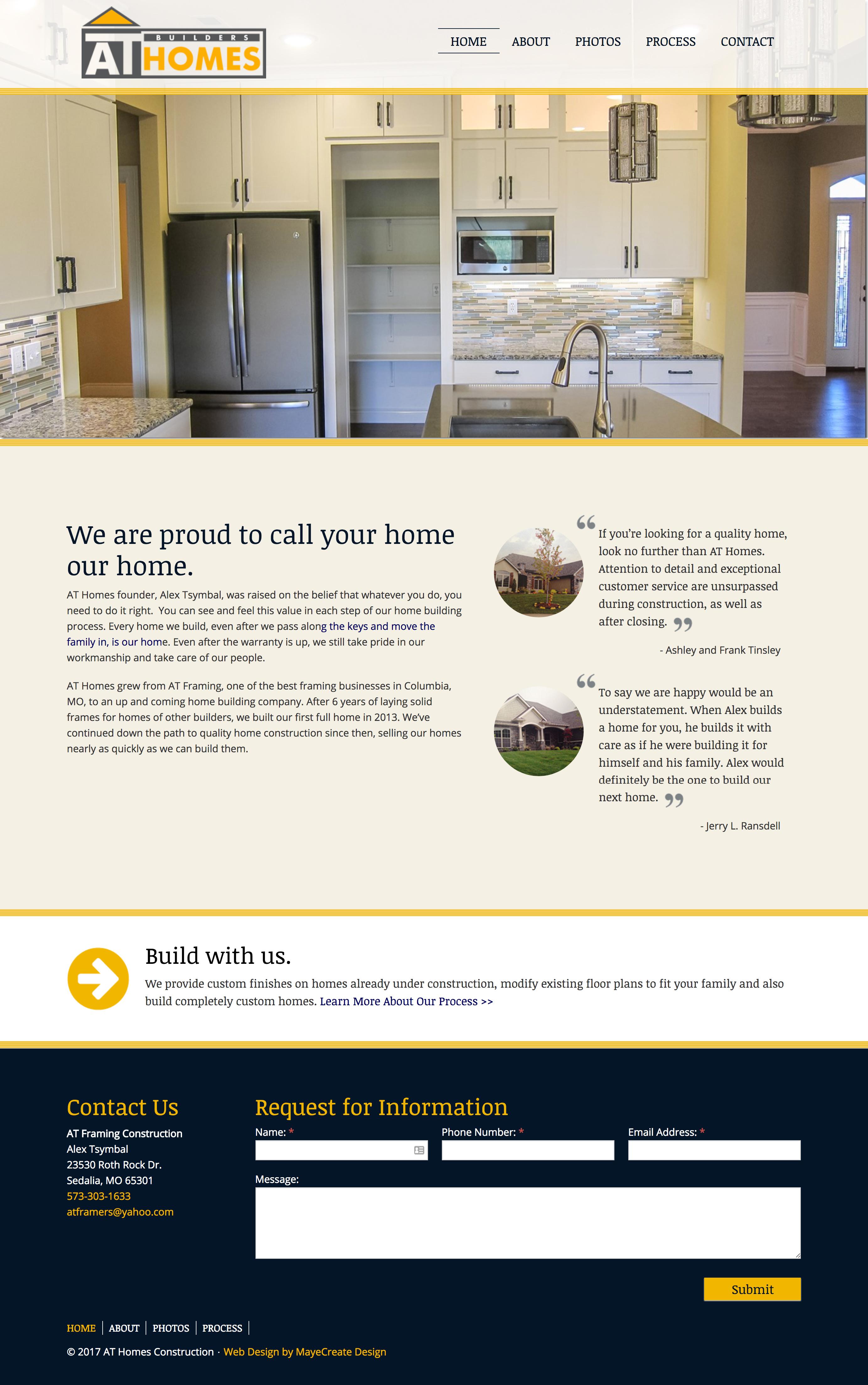AT Builders Homes Construction Marketing - Minneapolis, Minnesota. Adwords, SEO, social media for construction companies
