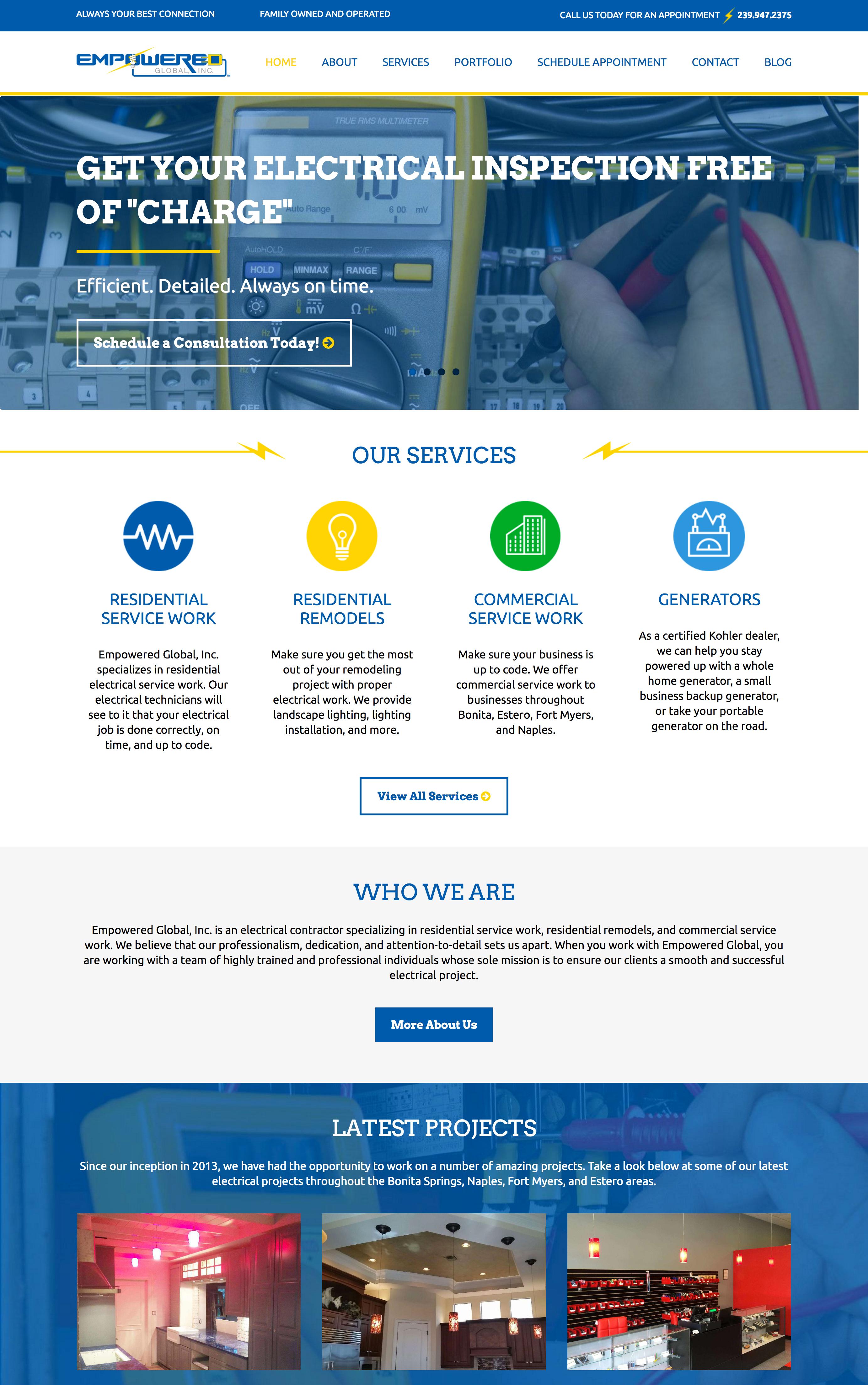Electrical web design contractors