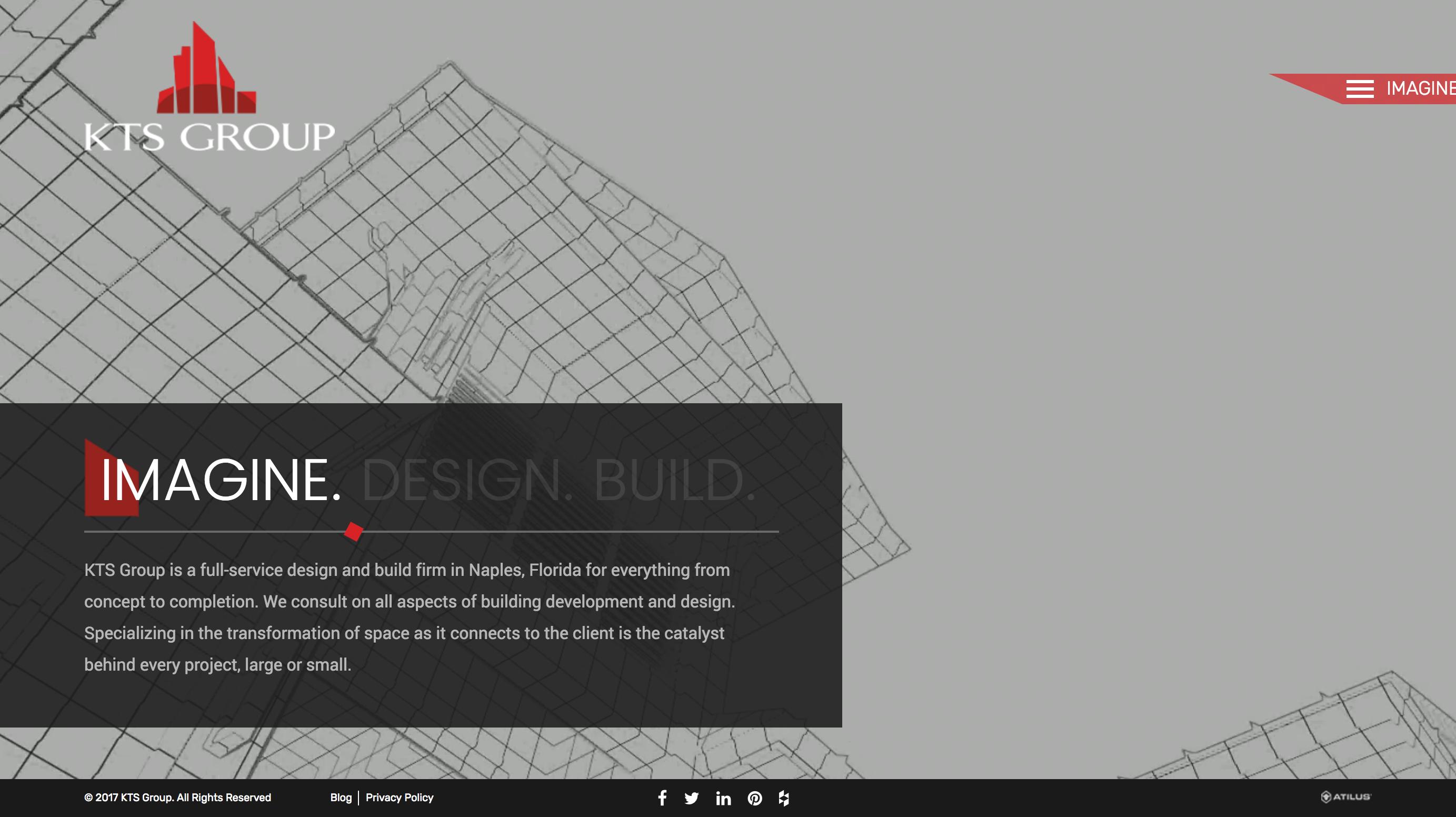 Consturction marketing - web design